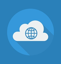 Cloud Computing Flat Icon Globe vector image vector image