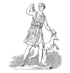 Diana of versailles vintage vector