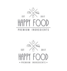food store modern logo vector image vector image