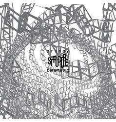 Grunge parametric structure design vector