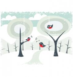 grunge winter card vector image