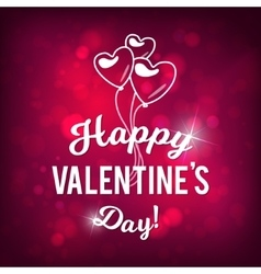 Happy valentine s day bokeh pink background vector