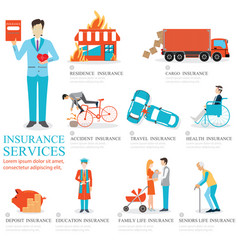 info graphic of business insurance services vector image vector image