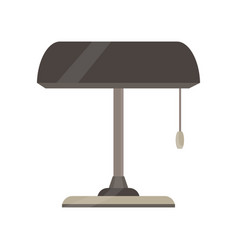 Lamp bankers desk pull light business icon vector