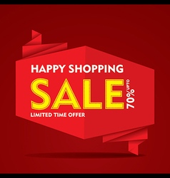 Limited time offer sale on everything banner vector