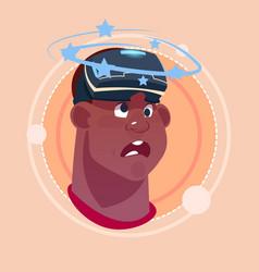 man dizzy african american male emoji wearing 3d vector image vector image