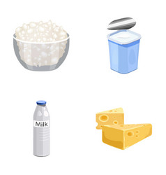 milk calcium product food milk product and vector image