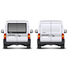 Minivan rear view vector image