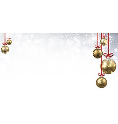 New Year background with Christmas balls vector image vector image