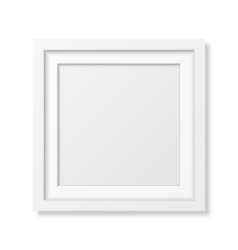 Realistic square white frame vector image vector image