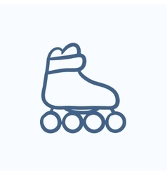 Roller skate sketch icon vector image