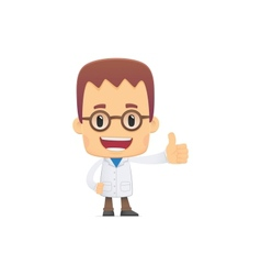 scientist in various poses vector image