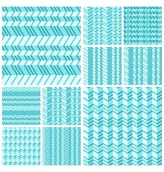 Set of geometrical seamless flat pattern vector image vector image