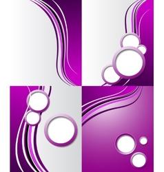 Set of purple backgrounds design frame line shadow vector
