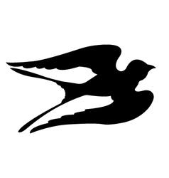 Swallow birds silhouettes vector