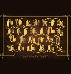 The pontifice - vintage gothic label font vector