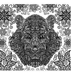 tiger muzzle ornament vector image