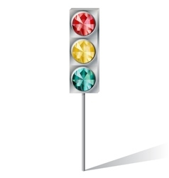 traffic light with precious stones vector image vector image