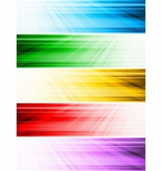 vector abstract style banners vector image