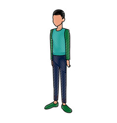 Young man in casual clothes standing vector