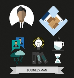 Business elements infographic with icons idea and vector