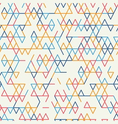Abstract geometric background seamless pattern vector