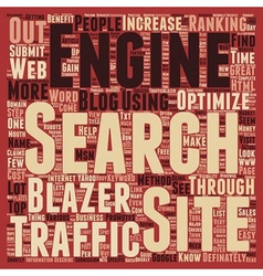 Increase sales traffic through traffic blazer text vector