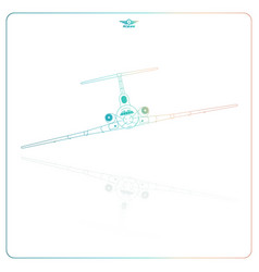 isolated passenger aircraft vector image