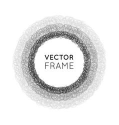 Hand-drawn circles vector