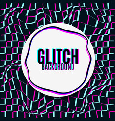 Glitch background vector