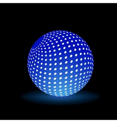 Digital light ball vector