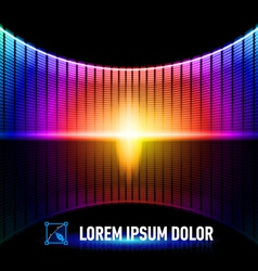 Color of music vector image