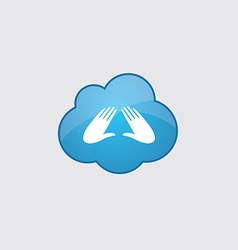 Blue cloud massage icon vector