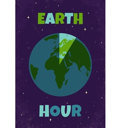 Earht hour vector