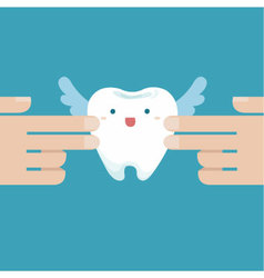 Touching the tooth angle vector