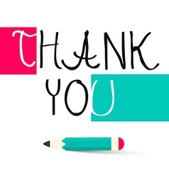 Thank You Title - vector image