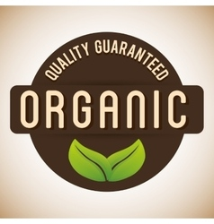 Organic natural food label vector