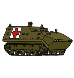Military track ambulance vector