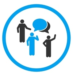 People discussion icon vector