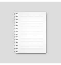 Blank realistic spiral notebook notepad isolated vector