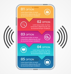 Mobile business infographics vector