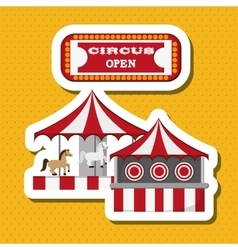 Circus and carnival design vector