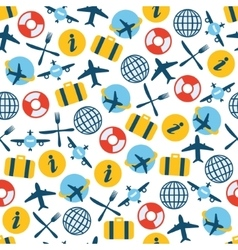 Airplane seamless pattern vector