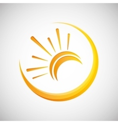 Sun design abstract icon summer concept vector image