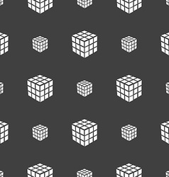 A three sided cube puzzle box in 3d icon sign vector