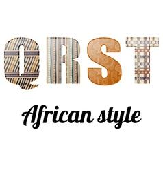 Alphabet african texture vector