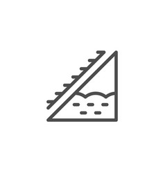 Attic insulation line icon vector