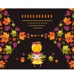 autumnal girl vector image vector image