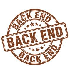 Back end brown grunge stamp vector