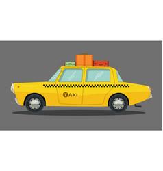 cartoon car in flat design vector image